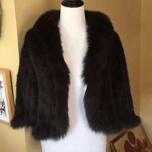 Jackets & Blazers - MINK Short Jacket Cape Size OSFA (L/XL) $560 NEW